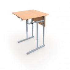 Школьная парта одноместная с регулируемой столешницей и регулируемая по высоте