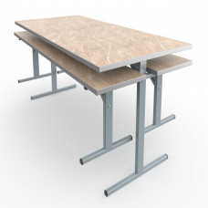 Стол обеденный четырехместный под скамью