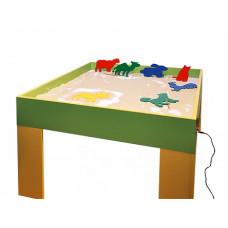 """Электрифицированный световой стол """"Песочница"""" с комплектом шаблонов для рисования"""