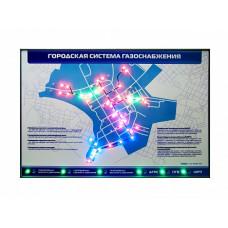 """Интерактивный электрифицированный стенд """"Городская система газоснабжения"""""""