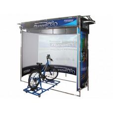 """Интерактивный велотренажер """"Пилот-2"""" на основе системы виртуальной реальности (панорамный экран с углом обзора 210 градусов)"""