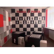 Стол шахматный с декором