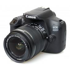 Зеркальная камера Canon EOS 2000D Kit 18-55mm DC черный