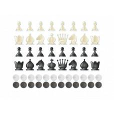 """Доска магнитно-маркерная """"Шахматы - шашки"""" + комплект тематических магнитов КМ-12"""