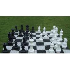 Напольные шахматы в комплекте с виниловой доской