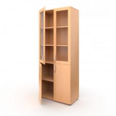 Шкаф широкий полуоткрытый дверцы стекло