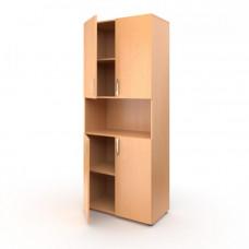 Шкаф широкий 4 дверцы с нишей