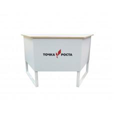 Стол учительский Трапеция с логотипом Точка Роста