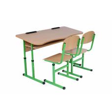 """Комплект """"Ученический стол (тематический) + два стула"""" (в соответствии с предметом)"""