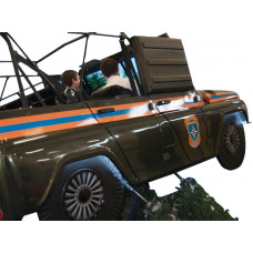 """Автотренажер контраварийного вождения """"УАЗ-4/МЧС"""" (оригинальный кузов автомобиля УАЗ, установленный на шестистепенную динамическую платформу)"""
