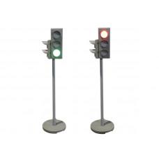 Электрифицированная модель транспортного и пешеходного светофоров на стойке и основании