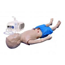 Манекен ребёнка старшего возраста для обучения уходу с возможностью использования небулайзера