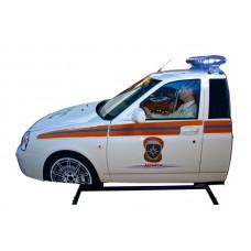 """Автотренажер контраварийного вождения """"Форсаж-9 (МЧС)"""" (оригинальный кузов автомобиля ВАЗ, установленный на двухстепенную динамическую платформу)"""