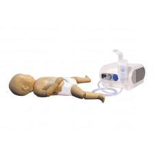 Манекен ребенка раннего возраста для обучения уходу с возможностью использования небулайзера